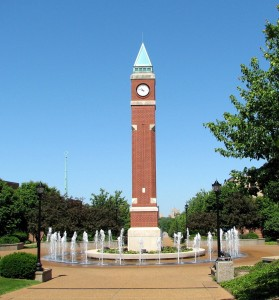 """Slu clock tower"" by Wilson Delgado - Own work. Licensed under Public Domain via Wikimedia Commons."