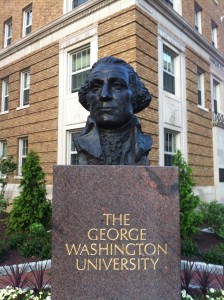 """Bust of George Washington - George Washington University - Washington DC"" by © Benoît Prieur / Wikimedia Commons. Licensed under CC BY-SA 3.0 via Wikimedia Commons."
